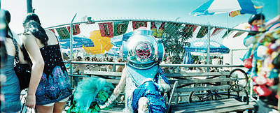 Of Mermaid Photograph - Coney Island Mermaid Parade, Coney by Panoramic Images