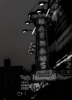Hot Dogs Photograph - Coney Island Noir by Jon Woodhams