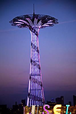 Kaleidescope Photograph - Coney Island Parachute by Allan Einhorn
