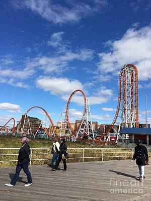 Cyclone Rollercoaster Photograph - Coney Island by Parker O'Donnell