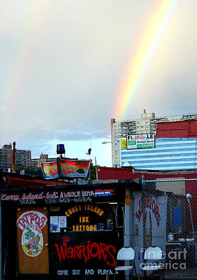 Coney Island Rainbow Art Print