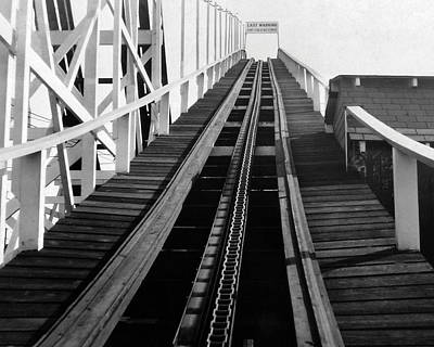 Coney Island - Roller Coaster Tracks Art Print by MMG Archives