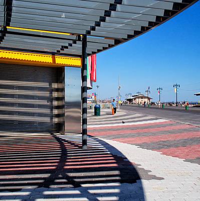 Photograph - Coney Island Shadows by Cornelis Verwaal