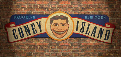 Replica Painting - Coney Island Sign by Bill Jonas