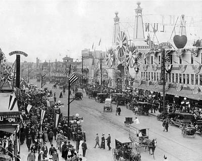B Photograph - Coney Island Street And Luna Park by MMG Archives