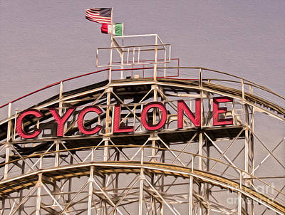Photograph - Coney Island - The Cyclone by Gregory Dyer