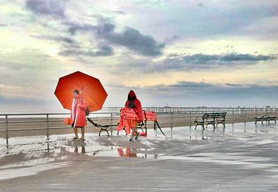 Photograph - Coney Island Umbrellas  by Frank Winters