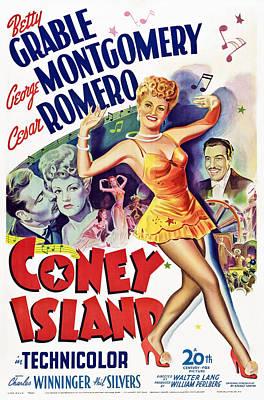 Coney Island, Us Poster Art, Betty Art Print by Everett
