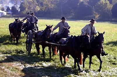 Confederate Caisson Convoy - Perryville Ky Art Print by Thia Stover