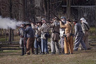 Photograph - Confederate Civil War Reenactors by Randall Nyhof