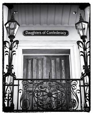 Confederate Door Art Print by John Rizzuto