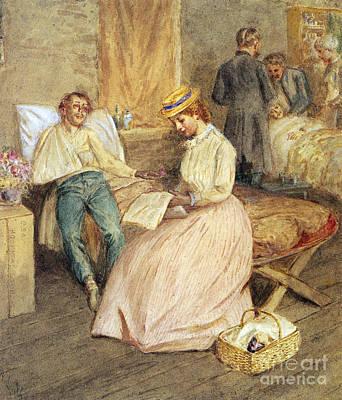 Confederate Hospital, 1861 Art Print