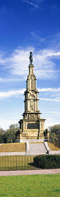 Confederate Monument Photograph - Confederate Memorial In Forsyth Park by Panoramic Images