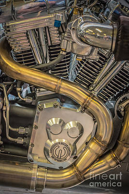 Confederate Motorcycle B120 Wraith Engine And Exhaust Pipe 2  Art Print