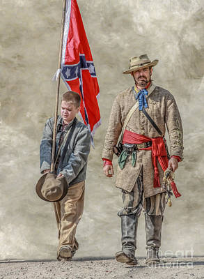 Infantry Digital Art - Confederate Sons by Randy Steele