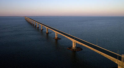 Photograph - Confederation Bridge At Sunset, New by Rob Huntley