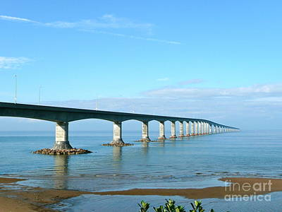Photograph - Confederation Bridge Canada by Rachel Gagne