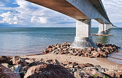 Confederation Bridge Art Print by Leona Arsenault