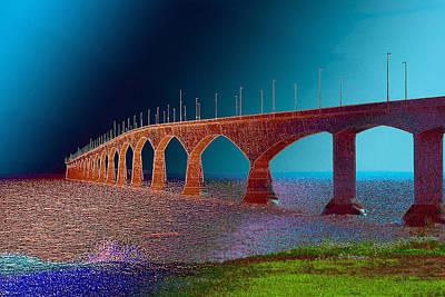 Photograph - Confederation Bridge by WB Johnston