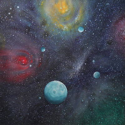 Cosmos Painting - Conference by Ed Regensburg