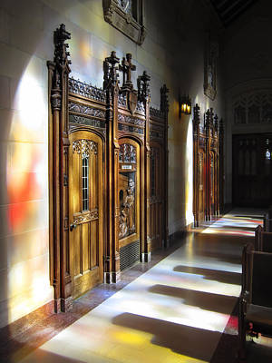 Confessions Photograph - Confession Booth - St. Dominics - San Francisco by Daniel Hagerman