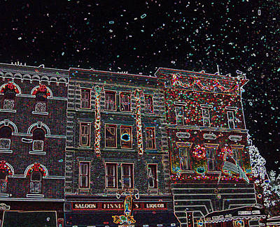 Photograph - Confetti Cascade Neon Inv by Seth Shotwell