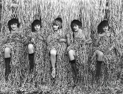 1918 Photograph - Confetti Girls 1918 by Padre Art