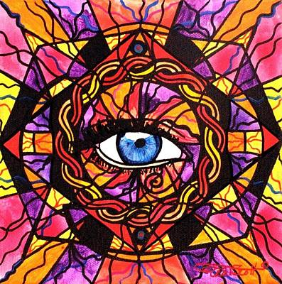 Sacred Geometry Painting - Confident Self Expression by Teal Eye  Print Store