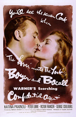 Bacall Photograph - Confidential Agent, Us Poster by Everett