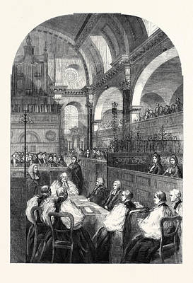 Taking Oath Drawing - Confirmation Of Dr. Longleys Election To The Archbishopric by English School