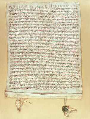 7 Seals Photograph - Confirmation Of Magna Carta by Bodleian Museum/oxford University Images