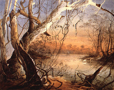 Confluence Digital Art - Confluence Of The Fox River And Wabash by Karl Bodmer