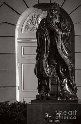 Photograph - Confucius At Bushnell Memorial Hartford by Phil Cardamone