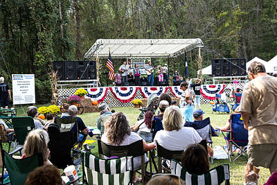Photograph - Congaree Bluegrass Festival by Charles Hite