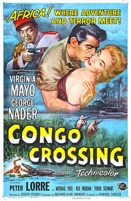 Congo Crossing, Us Poster, From Left Art Print by Everett