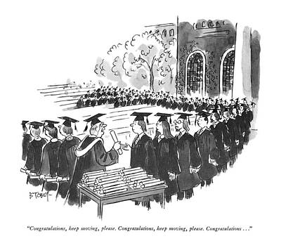 Diploma Drawing - Congratulations by Barney Tobey
