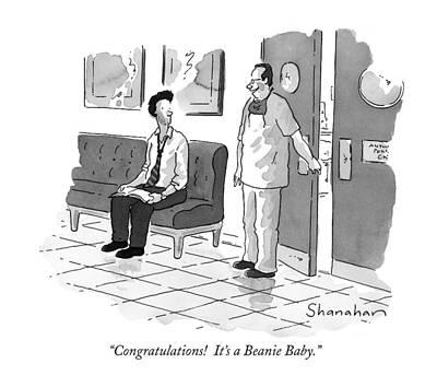 Congratulations!  It's A Beanie Baby Art Print
