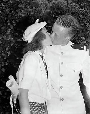 Photograph - Congratulations Kiss, 1939 by Granger