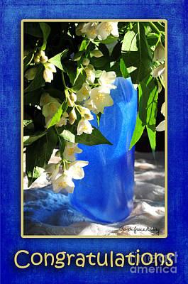 Congratulations In Blue Art Print by Randi Grace Nilsberg