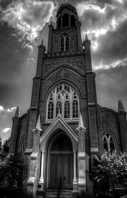 Photograph - Congregation Mickve Israel Savannah Georgia In Black And White by Greg and Chrystal Mimbs