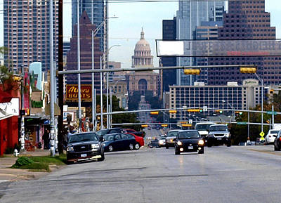 Congress Ave To The Capital Art Print