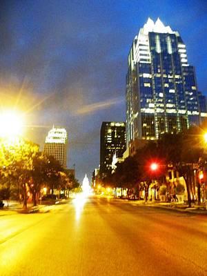 Congress Boulevard Austin Art Print