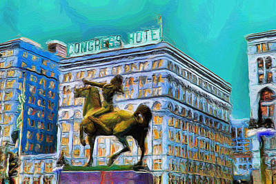 Painting - Congress Hotel - 20 by Ely Arsha