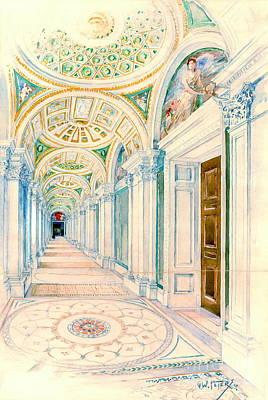 Congressional Library Washington Dc 1897 Art Print by Padre Art