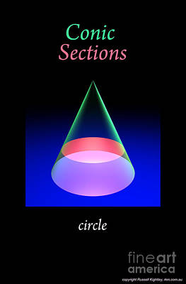 Digital Art - Conic Section Circle Poster 6 by Russell Kightley