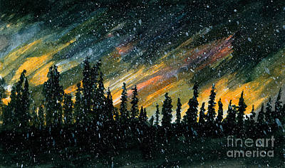 Windblown Painting - Conifer Sentinels by R Kyllo