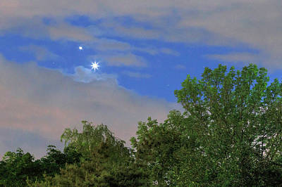 Conjunction Of Venus And Jupiter Art Print