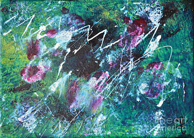 Connected Blue Green Abstract By Chakramoon Art Print by Belinda Capol