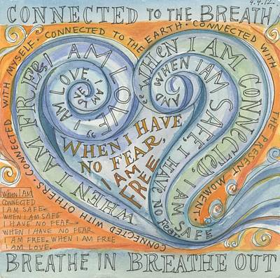 Connected To The Breath Art Print