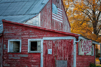 Photograph - Connecticut Farmstand by Expressive Landscapes Fine Art Photography by Thom